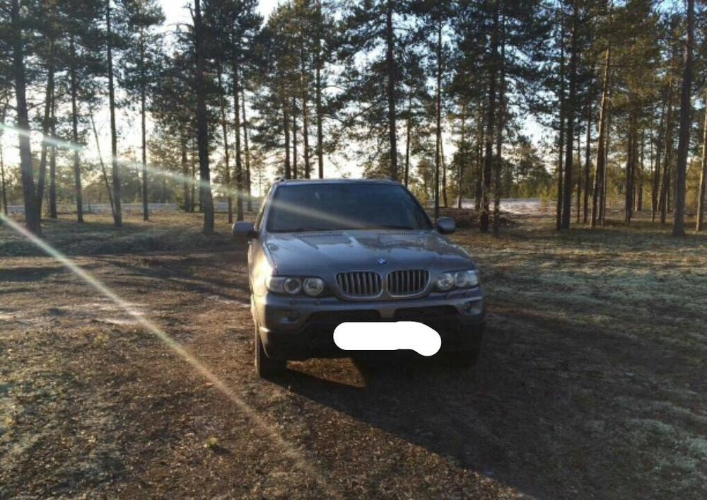 Подержанный BMW X5, отличное состояние, серый металлик, 2005 года выпуска, цена 680 000 руб. в ао. Ханты-Мансийском Автономном округе - Югре