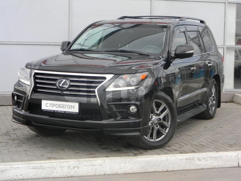 Lexus LX с пробегом, черный , отличное состояние, 2012 года выпуска, цена 3 460 000 руб. в автосалоне Тойота Центр Омск (Омск, б-р Архитекторов, д. 26)