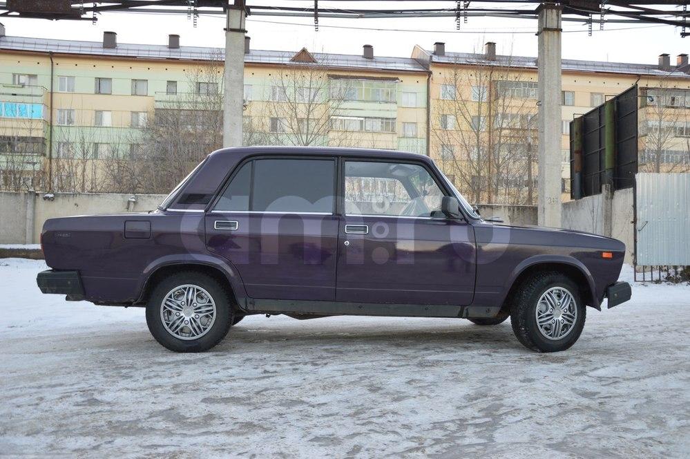 Подержанный ВАЗ (Lada) 2107, среднее состояние, фиолетовый , 2002 года выпуска, цена 30 000 руб. в республике Татарстане