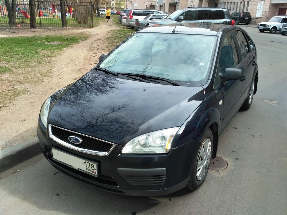 Подержанный Ford Focus, хорошее состояние, синий , 2006 года выпуска, цена 210 000 руб. в Санкт-Петербурге