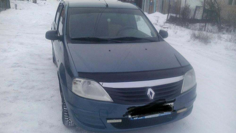 Подержанный Renault Logan, хорошее состояние, синий , 2010 года выпуска, цена 260 000 руб. в Челябинской области
