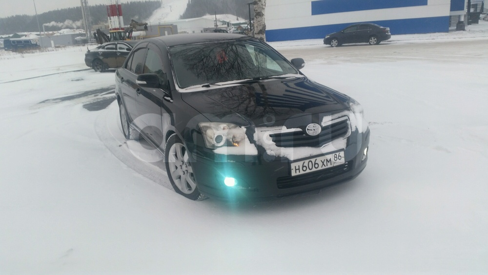 Подержанный Toyota Avensis, хорошее состояние, черный металлик, 2007 года выпуска, цена 410 000 руб. в ао. Ханты-Мансийском Автономном округе - Югре