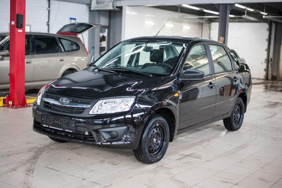Новый авто ВАЗ (Lada) Granta, черный , 2017 года выпуска, цена 462 700 руб. в автосалоне Березовский Лада-Центр (Березовский, ул. Кольцевая, д. 4)