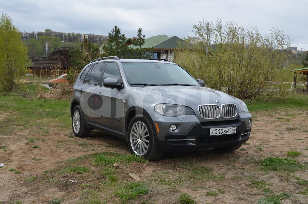 Подержанный BMW X5, отличное состояние, серый металлик, 2008 года выпуска, цена 1 350 000 руб. в Нижнем Новгороде