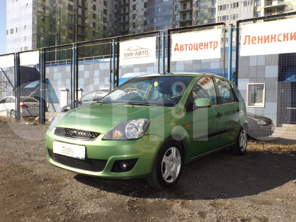 Ford Fiesta с пробегом, зеленый металлик, отличное состояние, 2007 года выпуска, цена 219 000 руб. в автосалоне Мир Авто (Санкт-Петербург, пр-кт Народного Ополчения, д. 10)