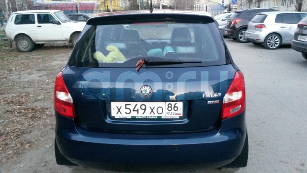 Подержанный Skoda Fabia, хорошее состояние, синий , 2011 года выпуска, цена 450 000 руб. в ао. Ханты-Мансийском Автономном округе - Югре