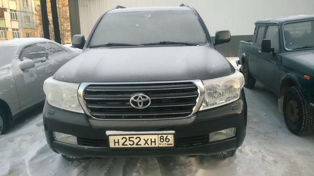 Подержанный Toyota Land Cruiser, отличное состояние, черный , 2008 года выпуска, цена 1 800 000 руб. в ао. Ханты-Мансийском Автономном округе - Югре
