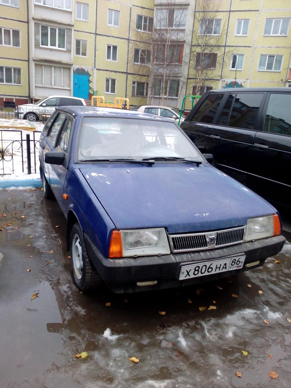 Подержанный ВАЗ (Lada) 2109, хорошее состояние, синий акрил, 1997 года выпуска, цена 55 000 руб. в ао. Ханты-Мансийском Автономном округе - Югре
