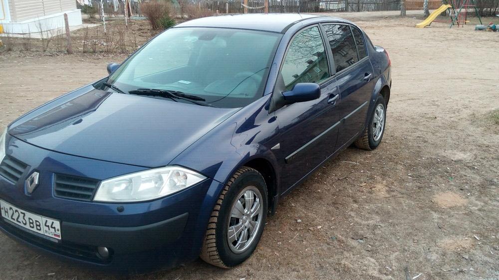 Подержанный Renault Megane, отличное состояние, синий , 2005 года выпуска, цена 245 000 руб. в Костромской области
