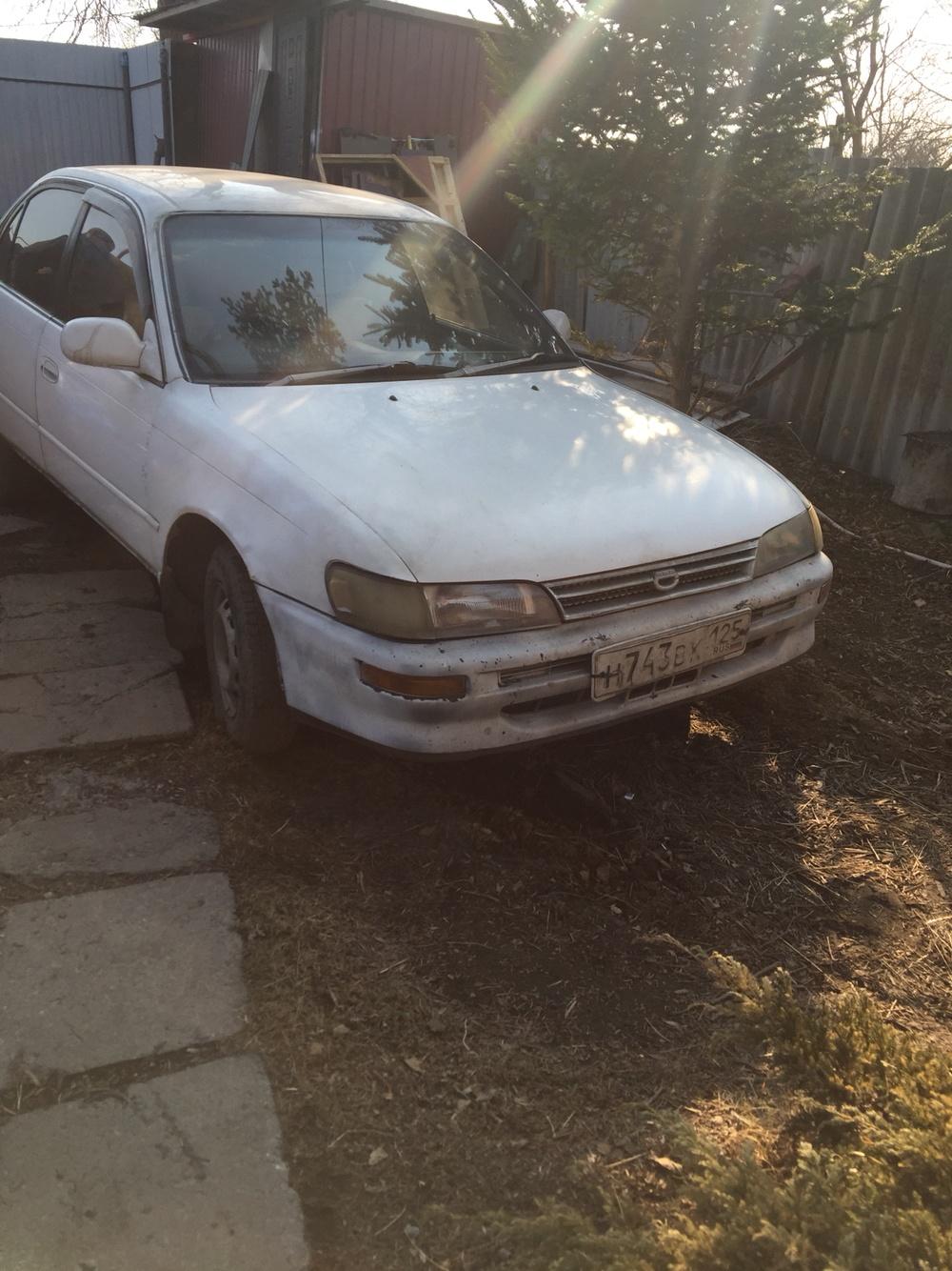 Подержанный Toyota Corolla, среднее состояние, белый , 1991 года выпуска, цена 70 000 руб. в Владивостоке