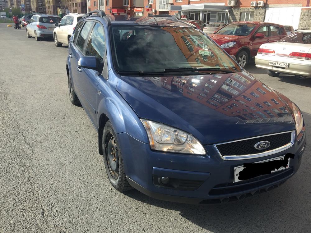 Подержанный Ford Focus, среднее состояние, синий металлик, 2007 года выпуска, цена 295 000 руб. в Тюмени