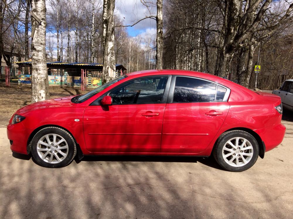 Подержанный Mazda 3, отличное состояние, красный перламутр, 2006 года выпуска, цена 369 000 руб. в Смоленской области