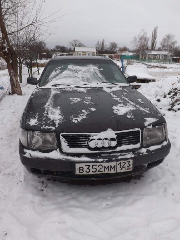 Подержанный Audi 100, хорошее состояние, черный , 1992 года выпуска, цена 200 000 руб. в Воронежской области