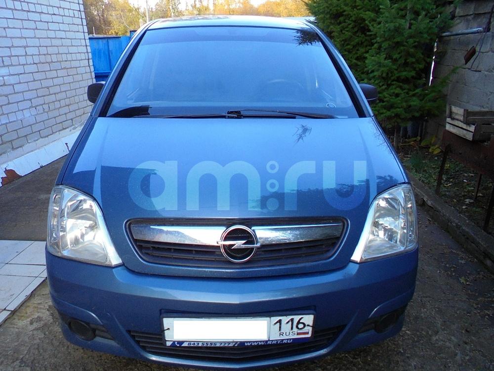 Подержанный Opel Meriva, хорошее состояние, голубой металлик, 2008 года выпуска, цена 299 000 руб. в республике Татарстане