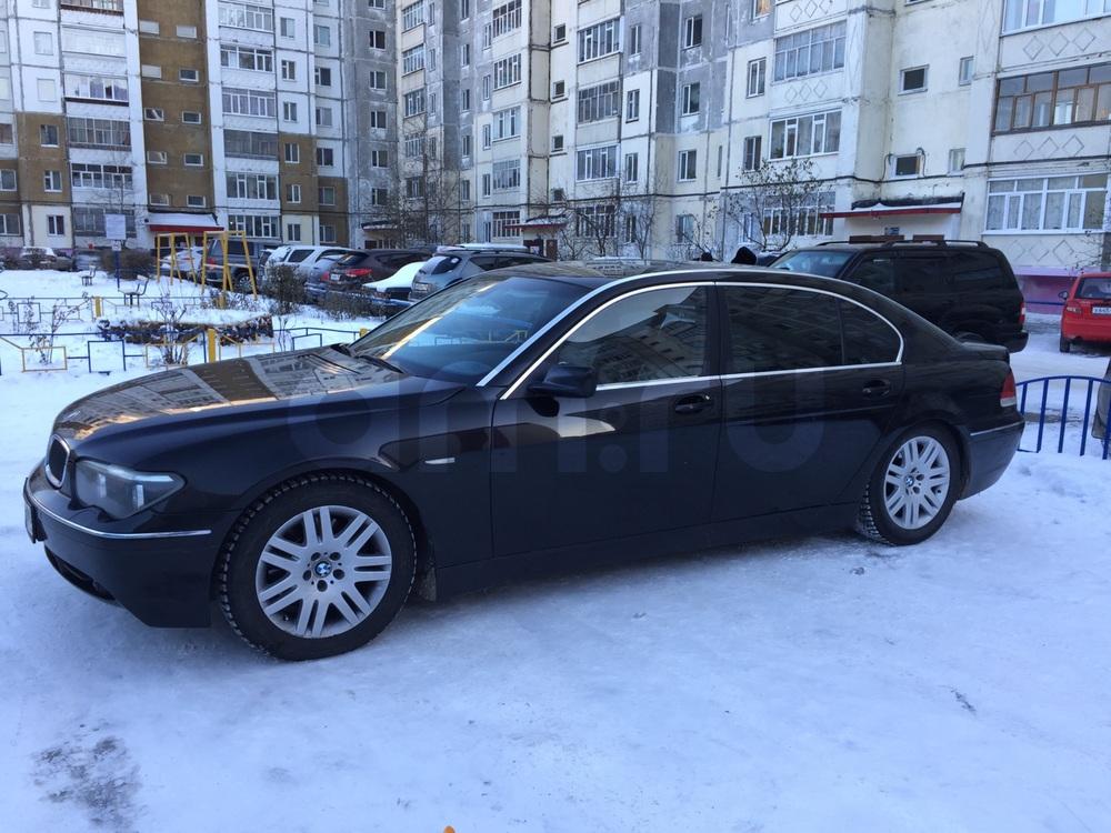 Подержанный BMW 7 серия, хорошее состояние, черный , 2002 года выпуска, цена 350 000 руб. в ао. Ханты-Мансийском Автономном округе - Югре