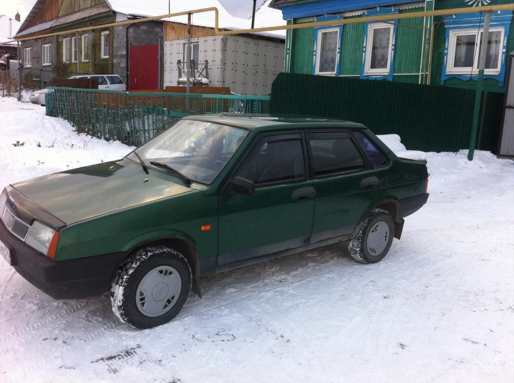Подержанный ВАЗ (Lada) 2109, хорошее состояние, зеленый , 1999 года выпуска, цена 70 000 руб. в Челябинской области
