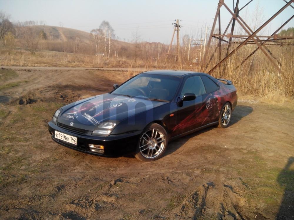 Подержанный Honda Prelude, хорошее состояние, черный , 1998 года выпуска, цена 350 000 руб. в Кемеровской области