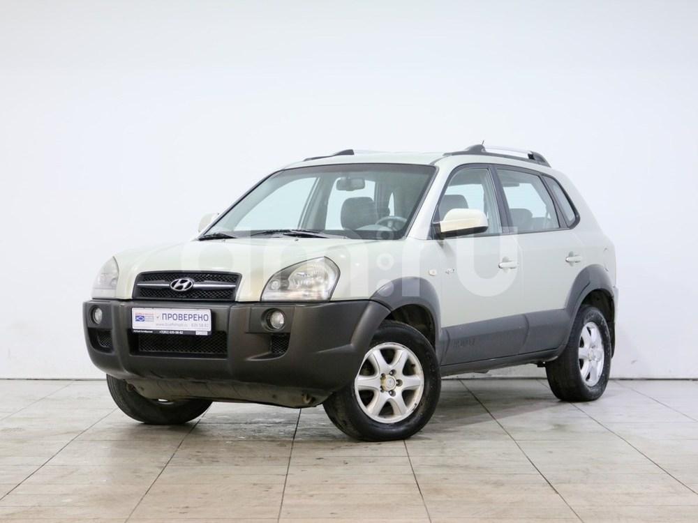 Hyundai Tucson с пробегом, бежевый , отличное состояние, 2005 года выпуска, цена 430 000 руб. в автосалоне РОЛЬФ Октябрьская Blue Fish (Санкт-Петербург, наб. Октябрьская, д. 8, корп. 2)