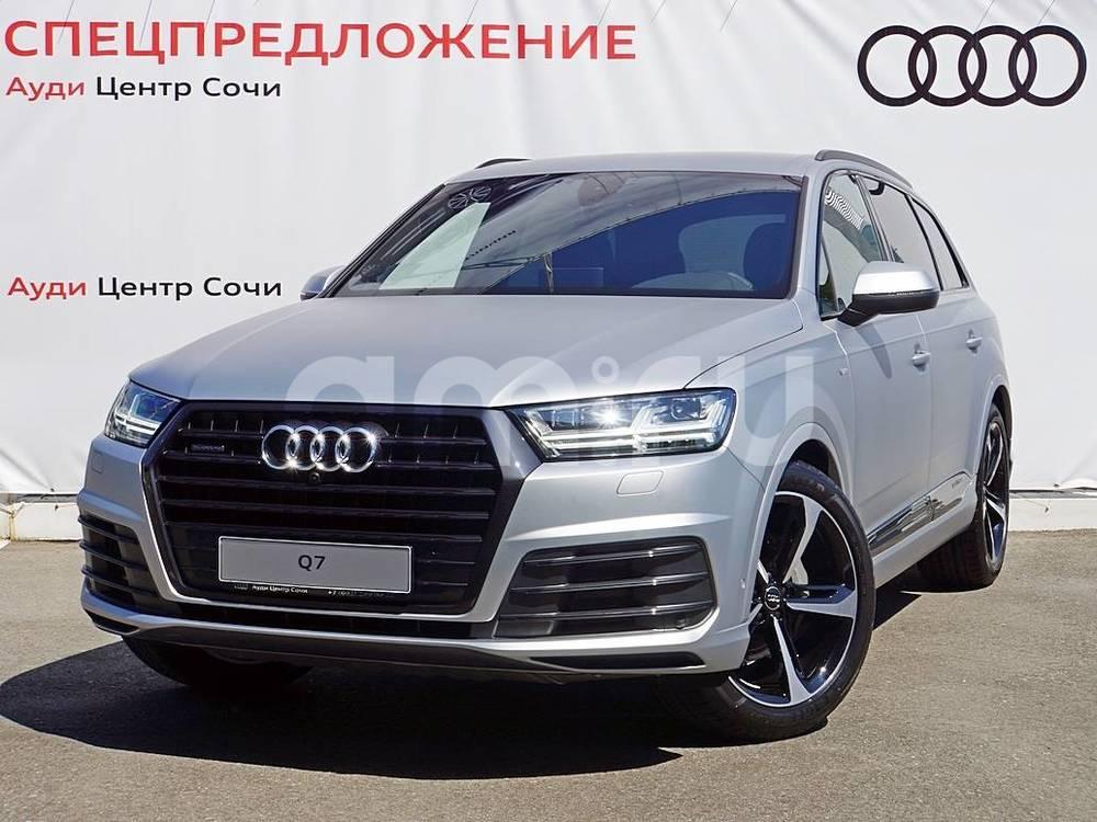 Новый авто Audi Q7, серебряный , 2016 года выпуска, цена 5 839 035 руб. в автосалоне Ауди Центр Сочи (Сочи, ул. Кипарисовая, д. 16/1)