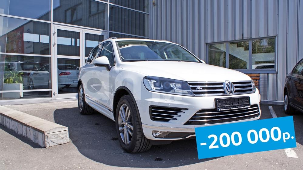 Новый авто Volkswagen Touareg, белый , 2017 года выпуска, цена 3 142 000 руб. в автосалоне  ()