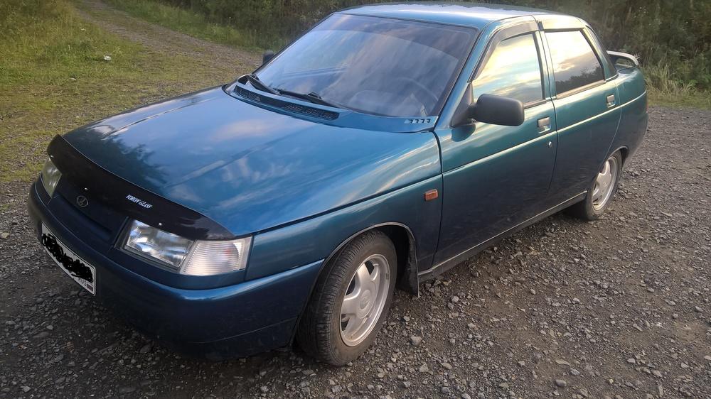 Подержанный ВАЗ (Lada) 2110, хорошее состояние, синий , 2005 года выпуска, цена 100 000 руб. в Челябинской области