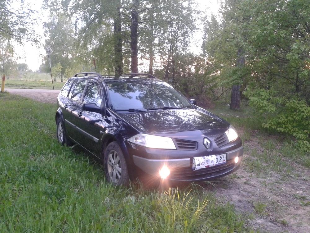 Подержанный Renault Megane, хорошее состояние, синий , 2006 года выпуска, цена 277 000 руб. в Смоленской области