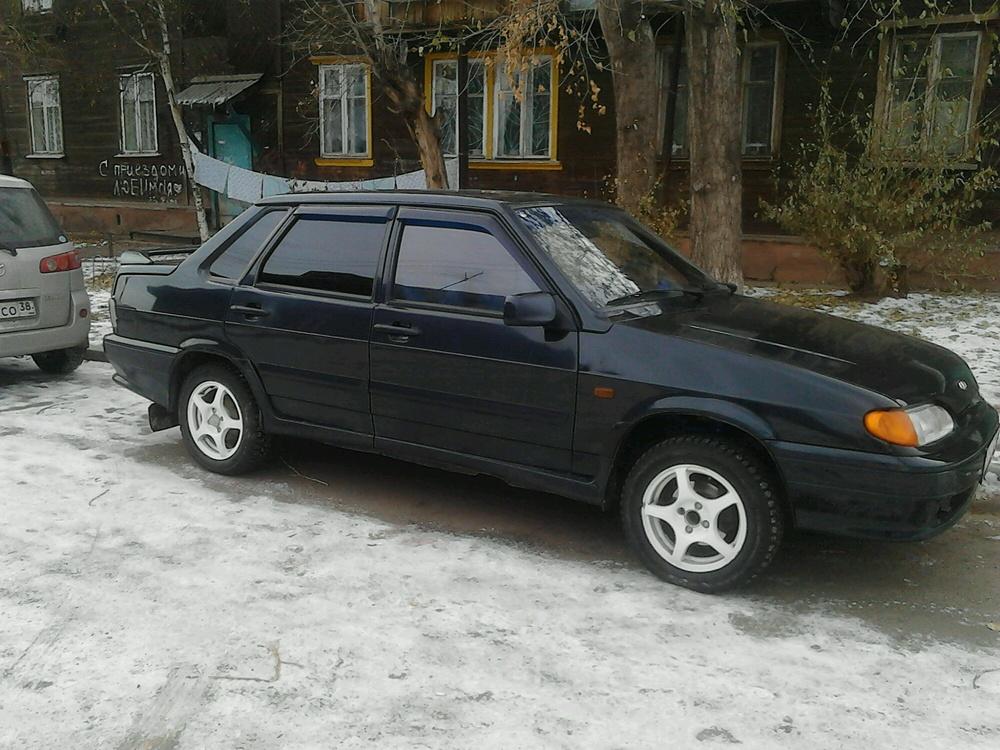 Подержанный ВАЗ (Lada) 2115, хорошее состояние, черный , 2008 года выпуска, цена 90 000 руб. в Иркутской области