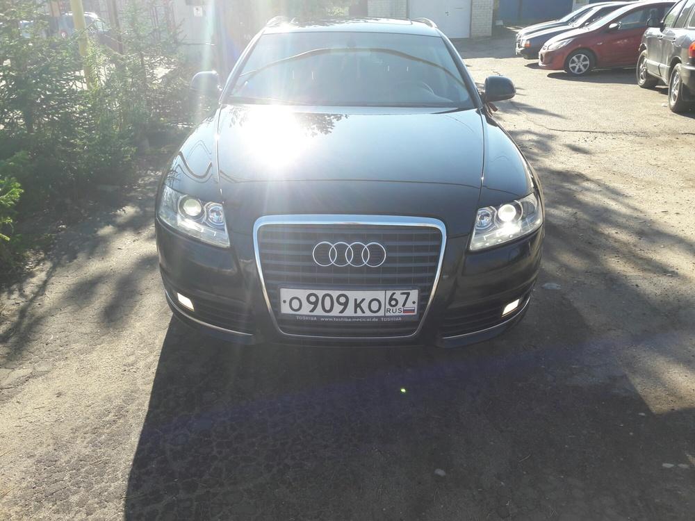 Подержанный Audi A6, отличное состояние, черный металлик, 2011 года выпуска, цена 900 000 руб. в Смоленской области