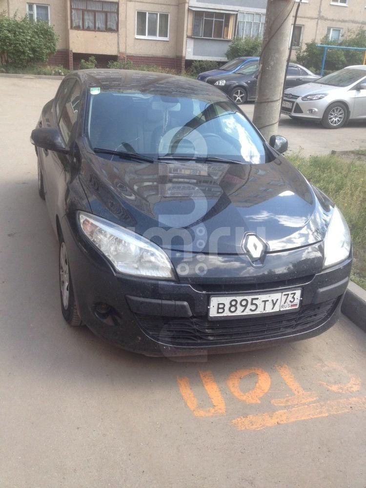 Подержанный Renault Megane, отличное состояние, черный , 2010 года выпуска, цена 470 000 руб. в Ульяновской области