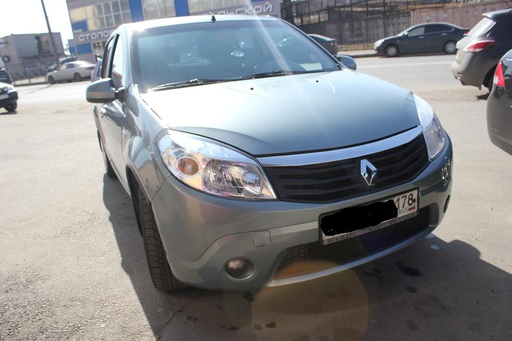 Подержанный Renault Sandero, отличное состояние, синий , 2012 года выпуска, цена 320 000 руб. в Санкт-Петербурге