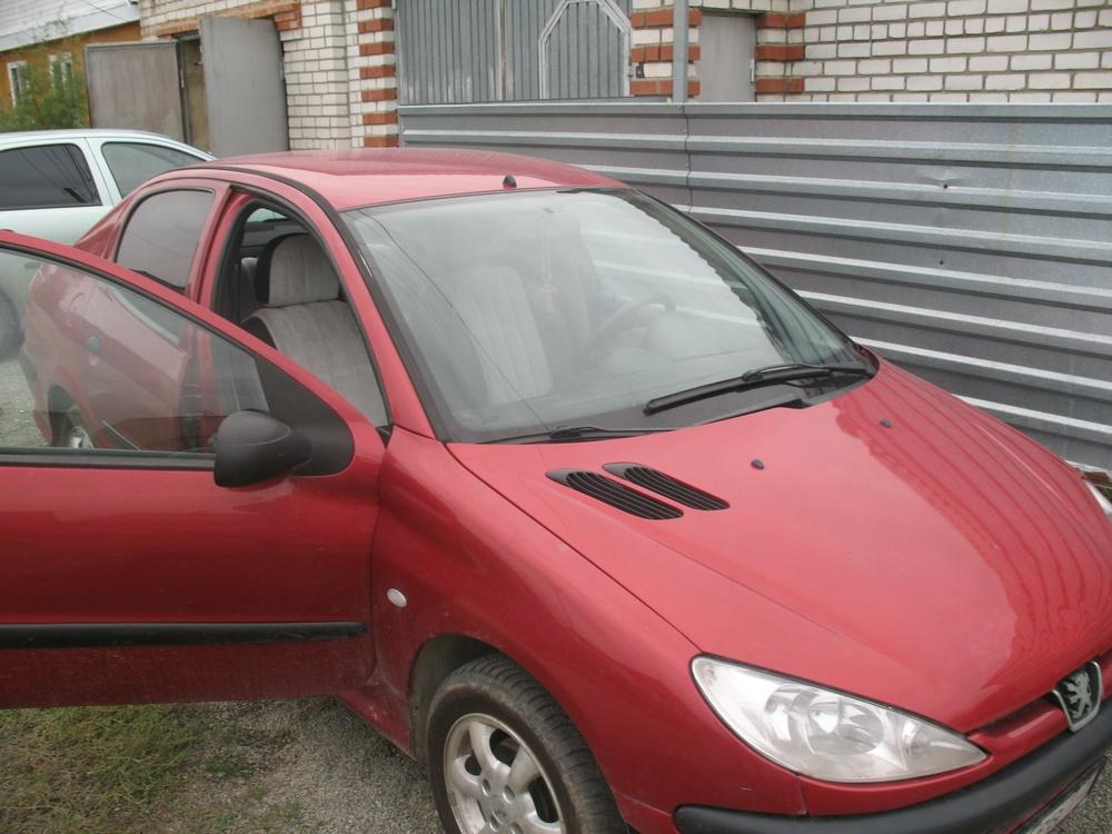Подержанный Peugeot 206, среднее состояние, красный металлик, 2008 года выпуска, цена 170 000 руб. в Челябинской области