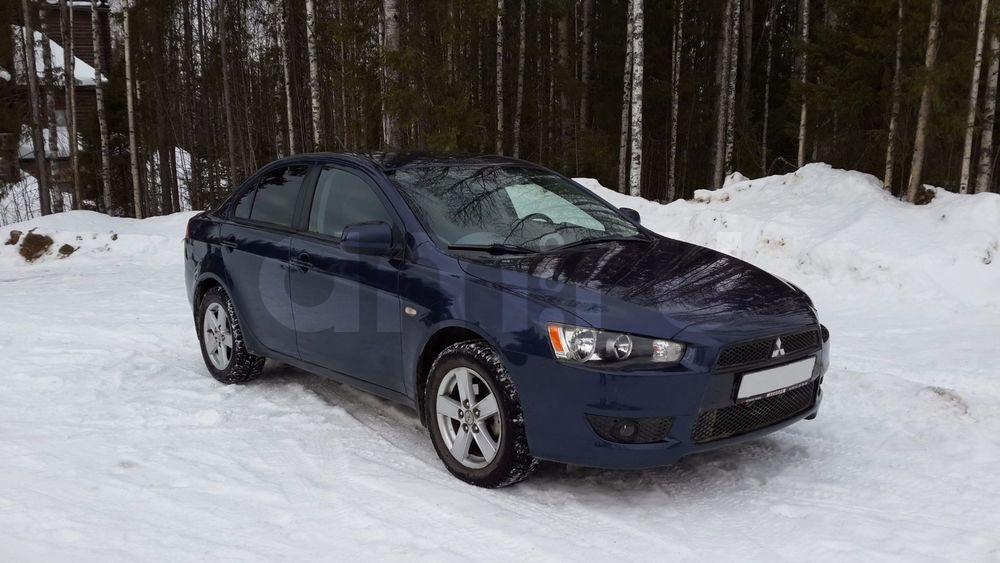 Подержанный Mitsubishi Lancer, отличное состояние, синий , 2008 года выпуска, цена 390 000 руб. в Санкт-Петербурге