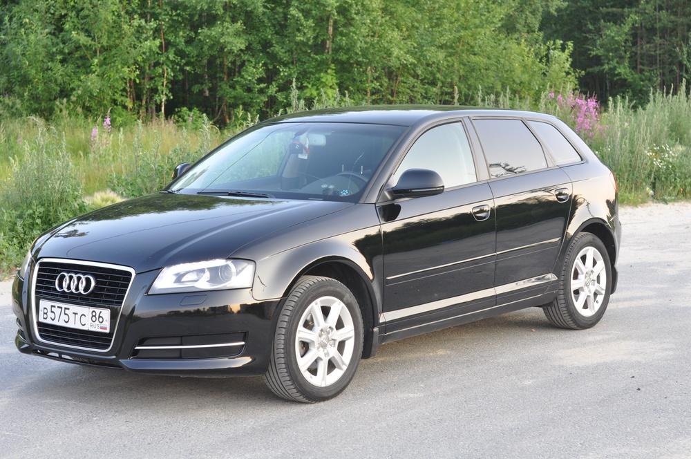 Подержанный Audi A3, хорошее состояние, черный металлик, 2010 года выпуска, цена 550 000 руб. в ао. Ханты-Мансийском Автономном округе - Югре