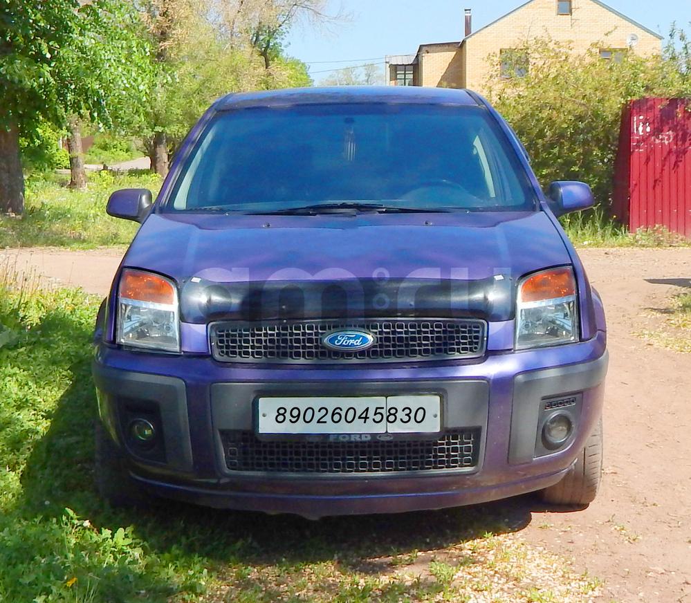 Подержанный Ford Fusion, хорошее состояние, фиолетовый металлик, 2007 года выпуска, цена 260 000 руб. в Челябинской области
