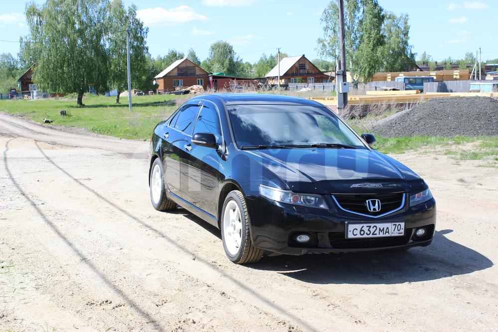 Подержанный Honda Accord, отличное состояние, черный , 2005 года выпуска, цена 550 000 руб. в Томской области
