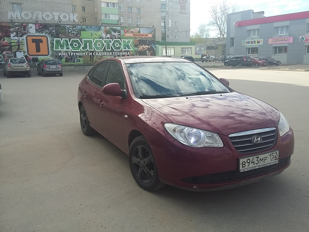 Подержанный Hyundai Elantra, отличное состояние, бордовый , 2007 года выпуска, цена 330 000 руб. в Нижнем Новгороде