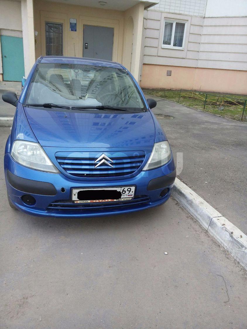 Подержанный Citroen C3, хорошее состояние, синий , 2004 года выпуска, цена 235 000 руб. в Твери