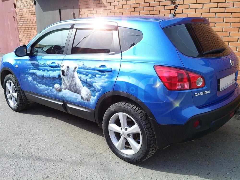 Подержанный Nissan Qashqai, отличное состояние, синий металлик, 2008 года выпуска, цена 599 000 руб. в Омске