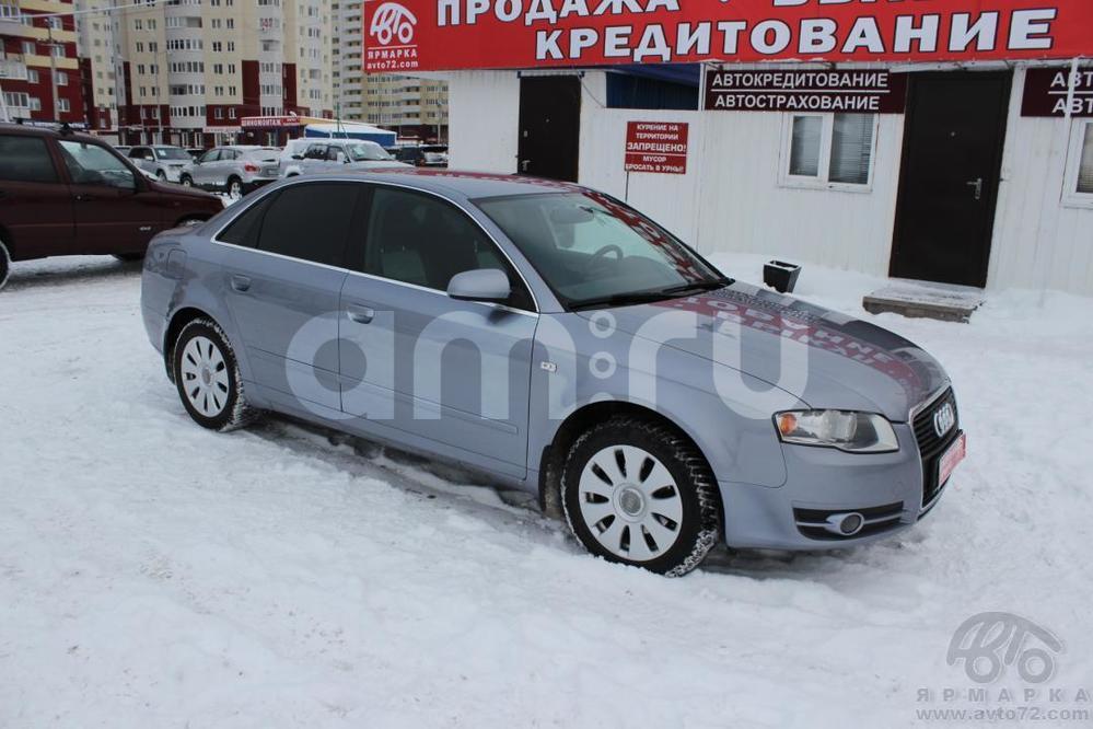 Audi A4 с пробегом, серый , отличное состояние, 2005 года выпуска, цена 465 000 руб. в автосалоне Автомобильная Ярмарка (Тюмень, ул. Пермякова, д. 85)