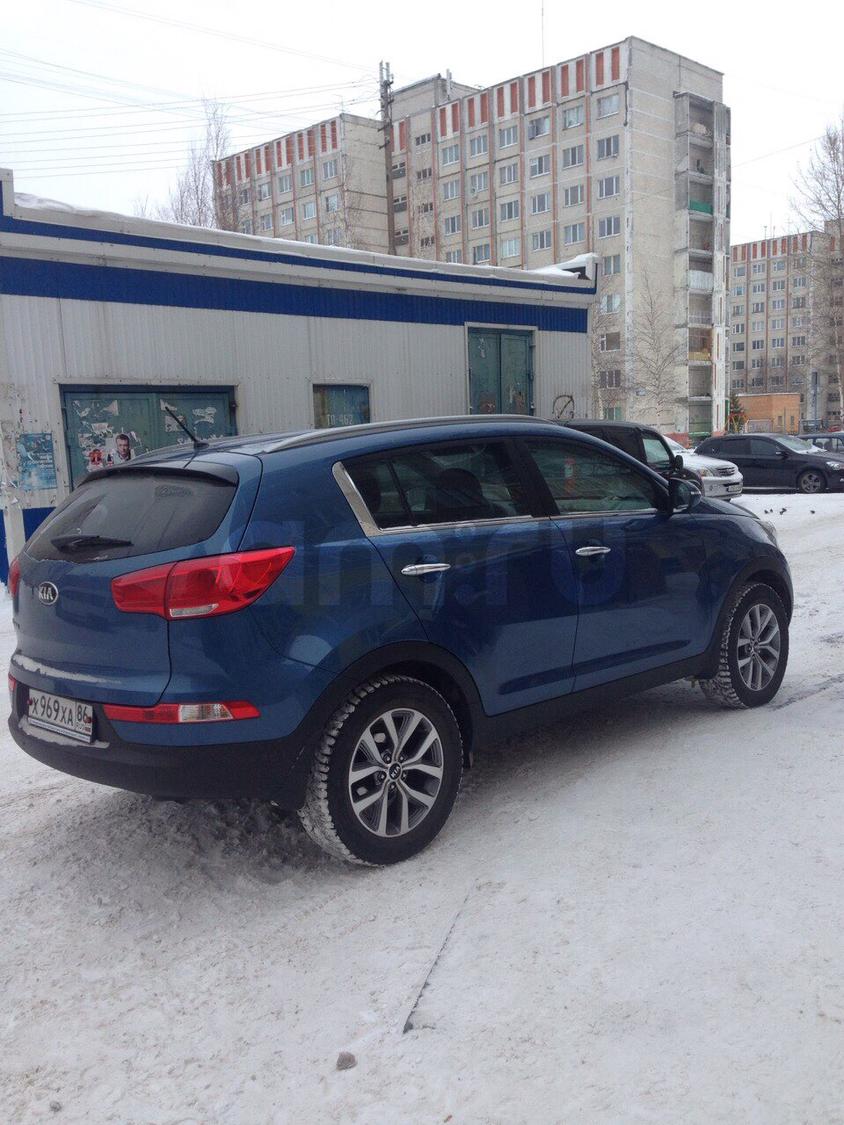 Подержанный Kia Sportage, отличное состояние, синий металлик, 2015 года выпуска, цена 1 197 000 руб. в ао. Ханты-Мансийском Автономном округе - Югре