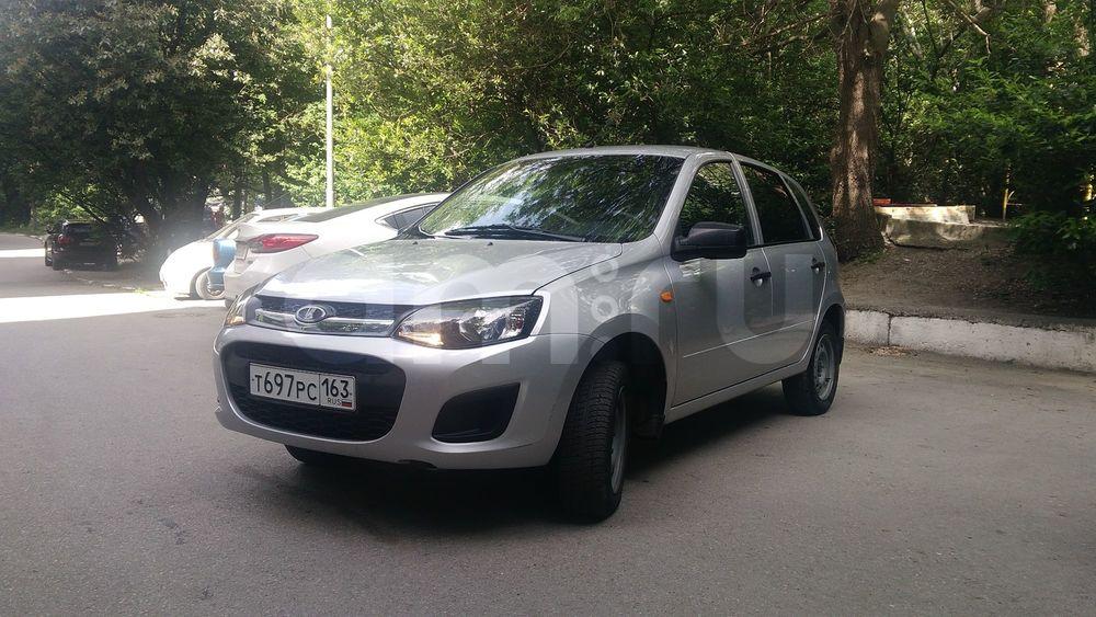 Подержанный ВАЗ (Lada) Kalina, хорошее состояние, серебряный , 2014 года выпуска, цена 350 000 руб. в Крыму