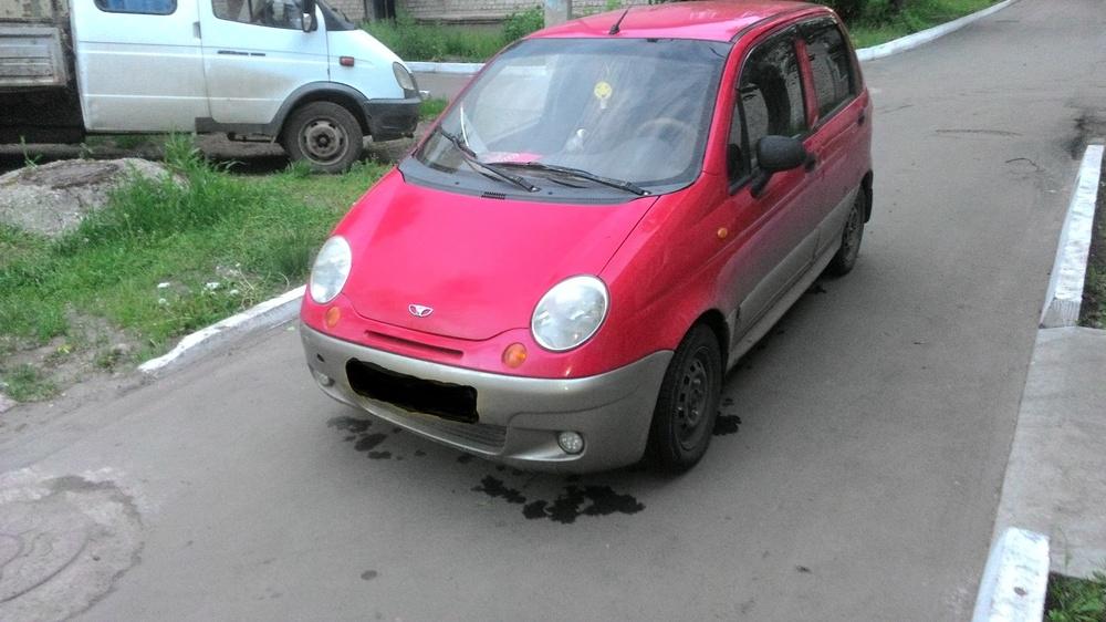 Подержанный Daewoo Matiz, среднее состояние, красный , 2006 года выпуска, цена 85 000 руб. в Ульяновской области