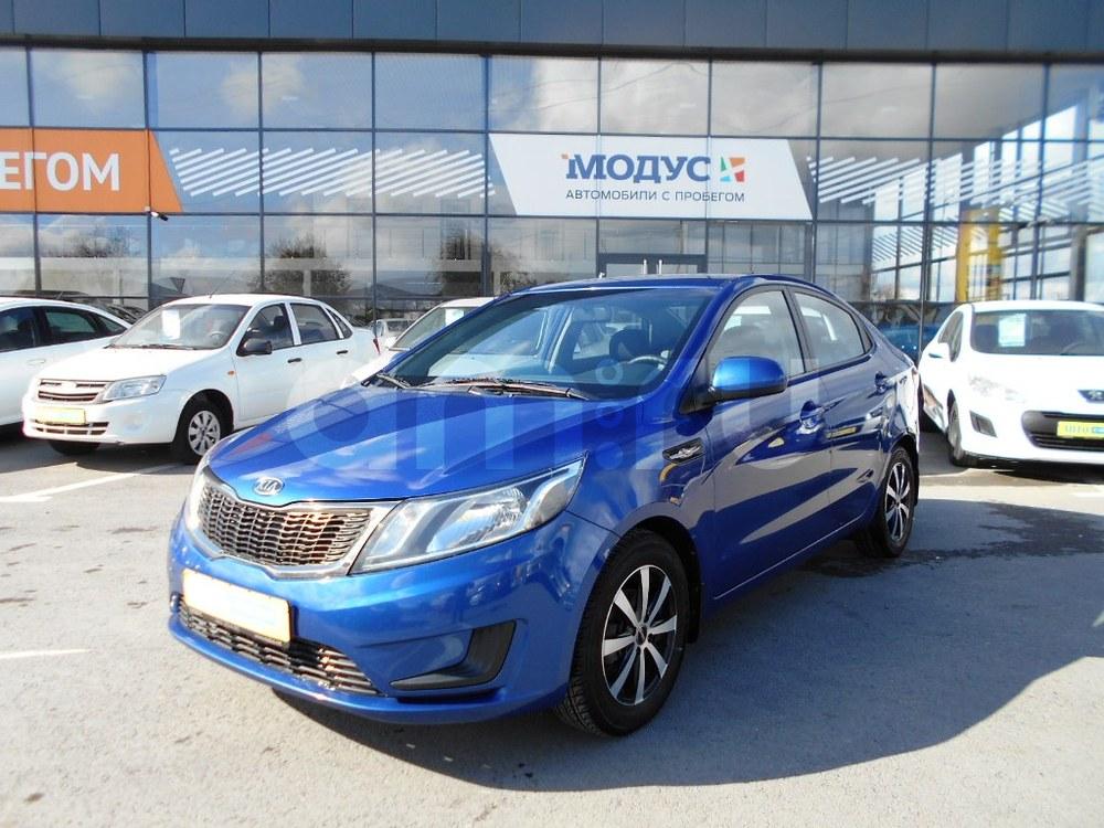 Kia Rio с пробегом, синий , отличное состояние, 2012 года выпуска, цена 450 000 руб. в автосалоне  ()
