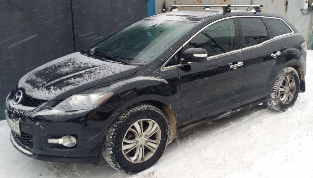 Подержанный Mazda CX-7, отличное состояние, черный , 2008 года выпуска, цена 630 000 руб. в ао. Ханты-Мансийском Автономном округе - Югре