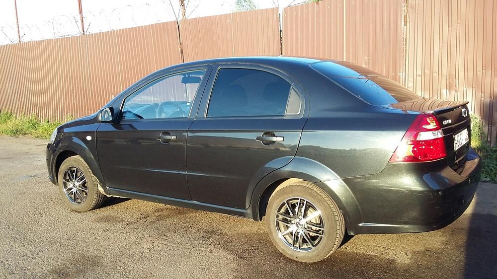 Подержанный Chevrolet Aveo, среднее состояние, черный перламутр, 2009 года выпуска, цена 200 000 руб. в республике Татарстане