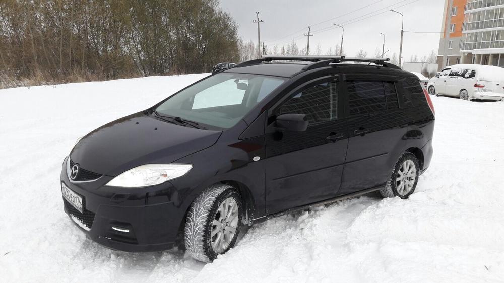 Подержанный Mazda 5, отличное состояние, фиолетовый металлик, 2008 года выпуска, цена 470 000 руб. в Челябинской области