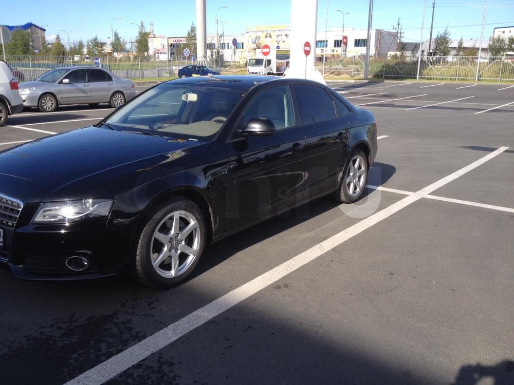 Подержанный Audi A4, отличное состояние, черный , 2009 года выпуска, цена 750 000 руб. в ао. Ханты-Мансийском Автономном округе - Югре