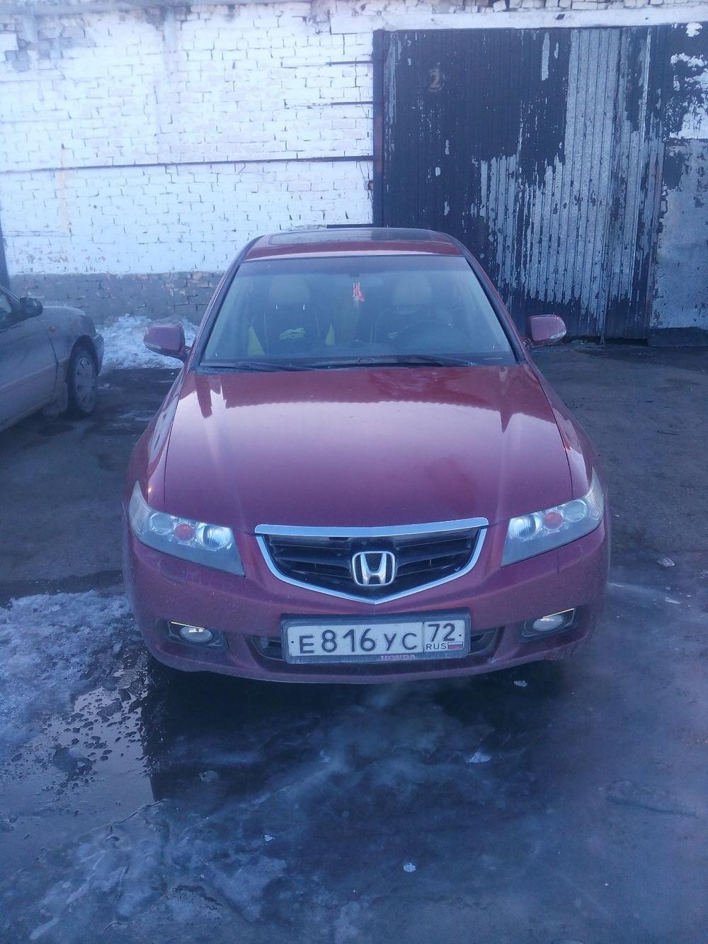 Подержанный Honda Accord, отличное состояние, вишневый , 2004 года выпуска, цена 425 000 руб. в Тюмени