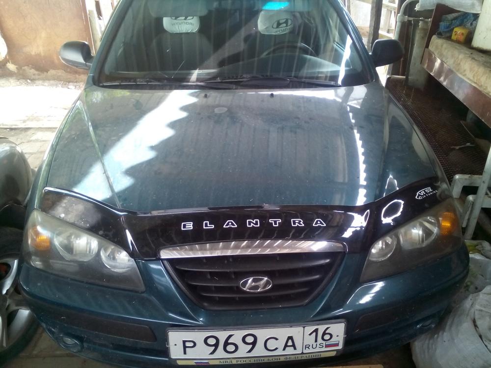 Подержанный Hyundai Elantra, отличное состояние, зеленый , 2004 года выпуска, цена 270 000 руб. в Крыму