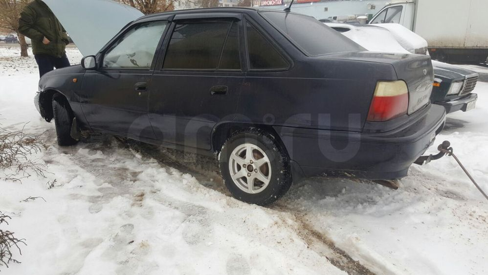 Подержанный Daewoo Nexia, битый состояние, синий , 2007 года выпуска, цена 40 000 руб. в республике Татарстане